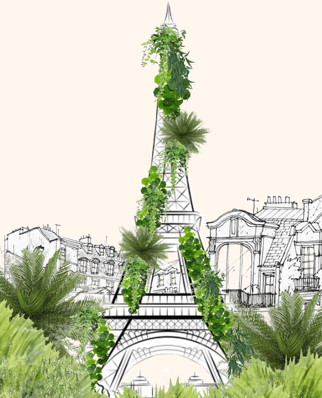 Notre vision : Tour Eiffe végétalisée