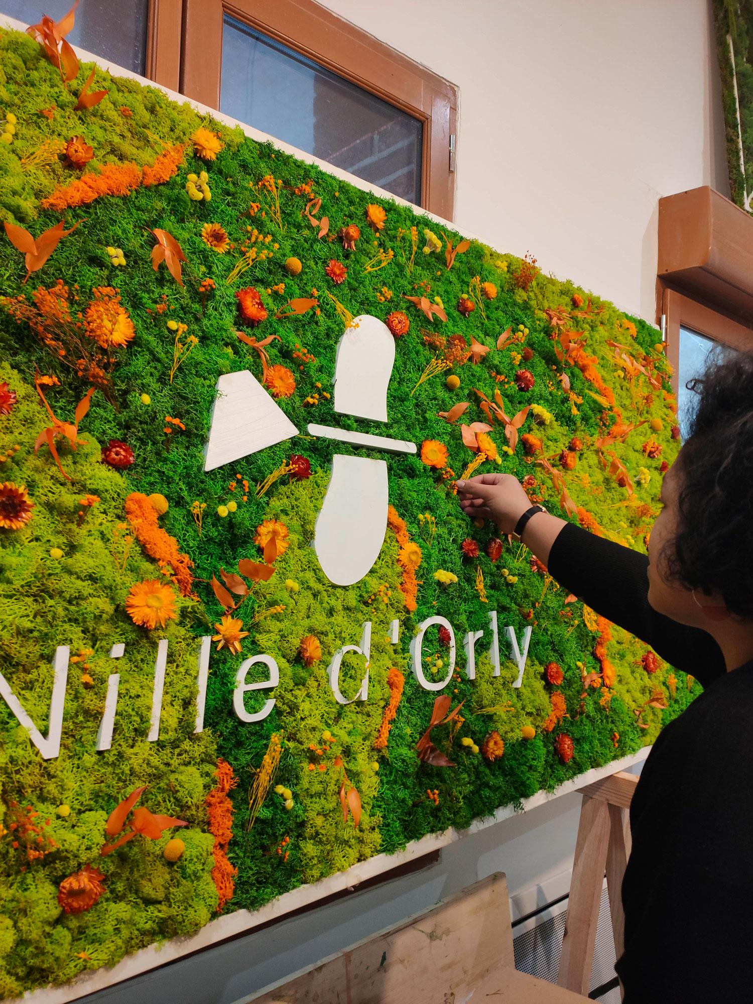 mur végétal sur mesure fresque végétale activité team building entreprise