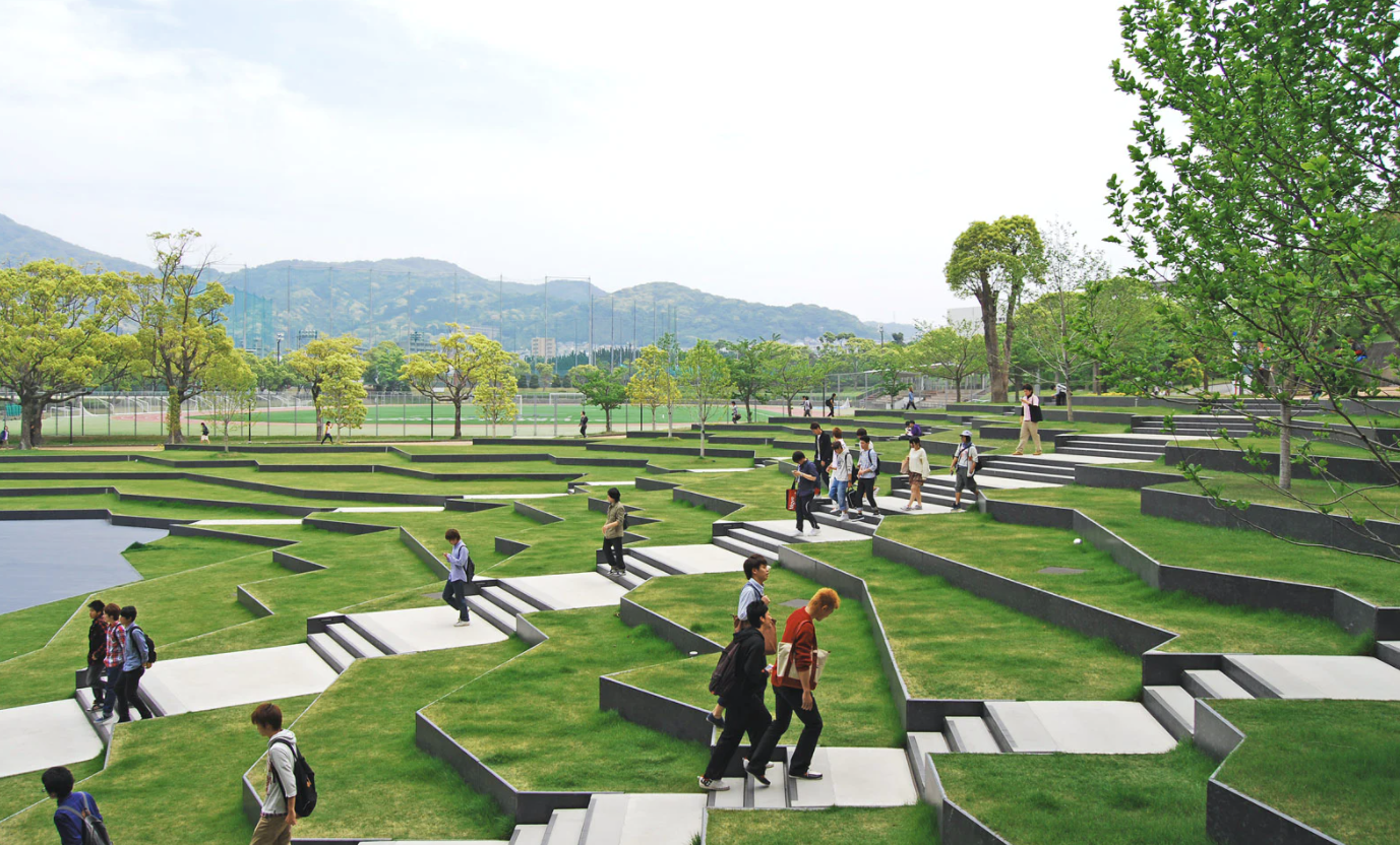 Exemple de Green Campus : L'université de Kyushu Sangyo (Japon)