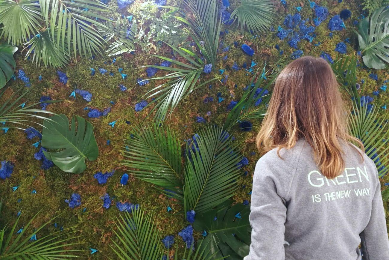Mur végétal tropical stabilisé