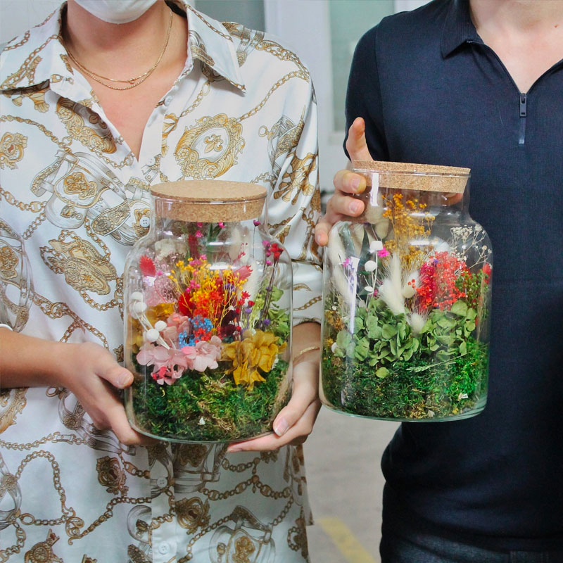 Atelier Terrarium fleurs séchées Delicorner