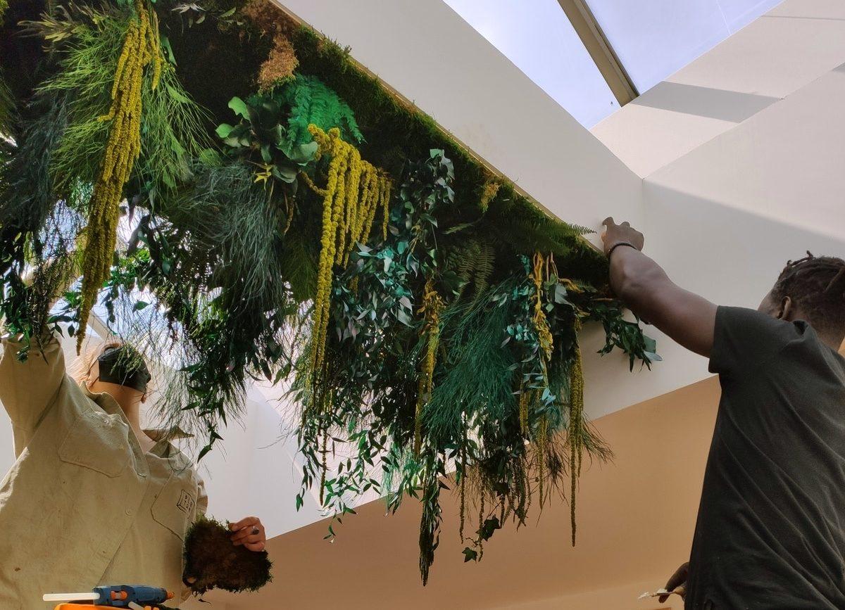 Plafond en végétaux stabilisés