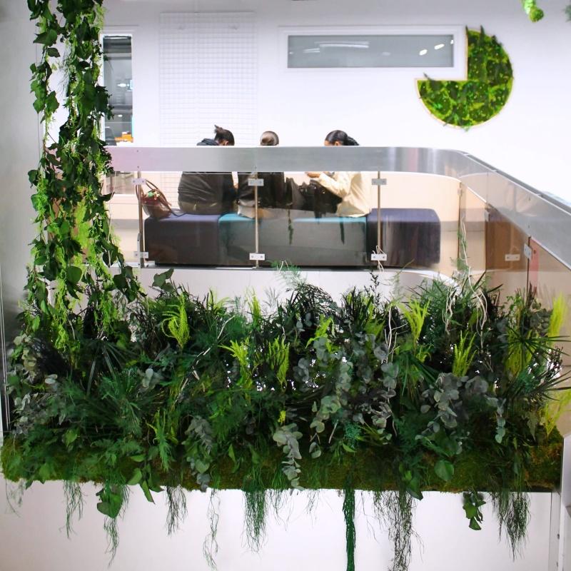 Jardinière en végétaux stabilisés