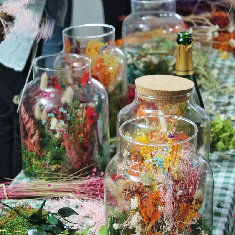 Atelier Terrarium de fleurs séchées