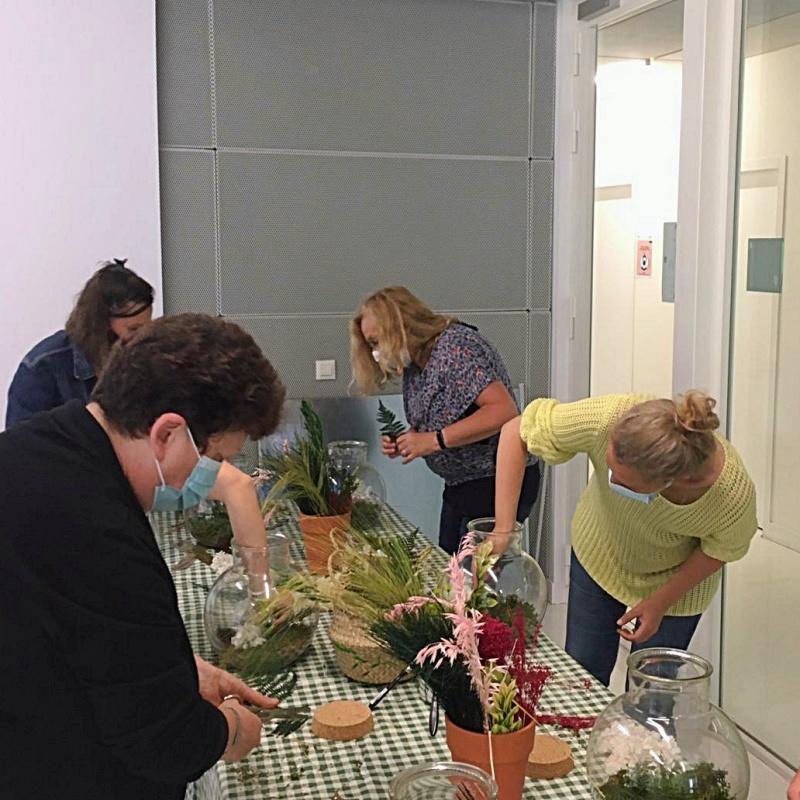 Atelier terrarium fleurs séchées CFE