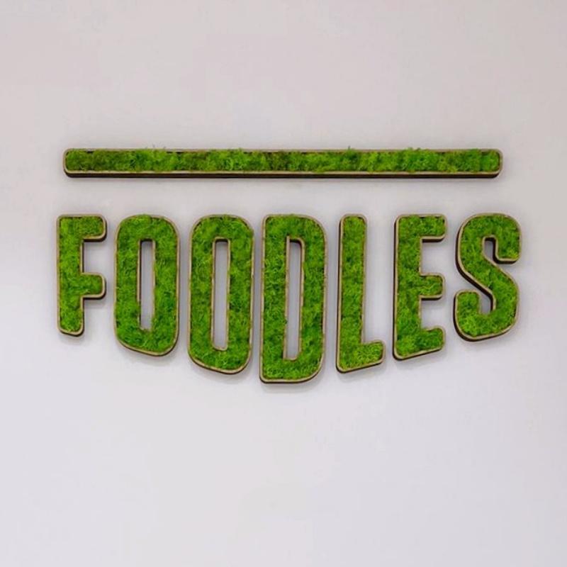 Foodles lettrage végétal stabilisé